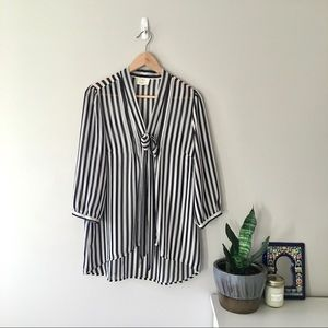 Urban Outfitters | striped chiffon blouse, L